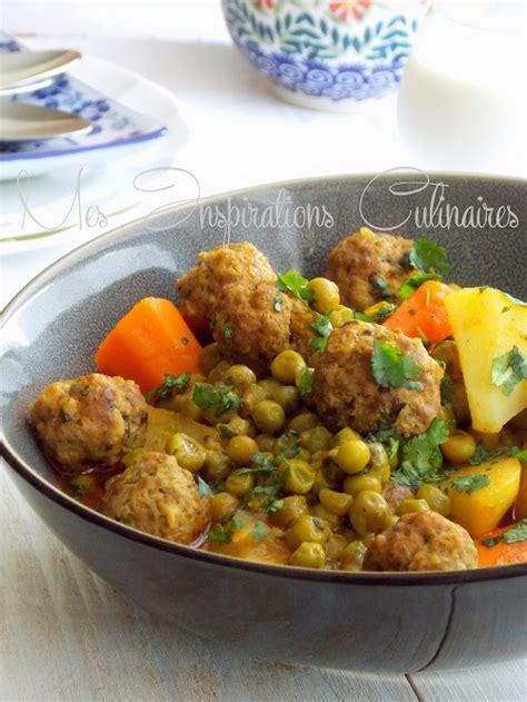 cuisine petit pois tajine kefta aux petits pois et aux carottes le