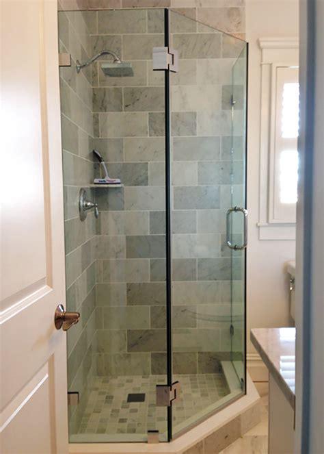 bathroom shower tile designs neo angle shower doors corner shower manalapan nj