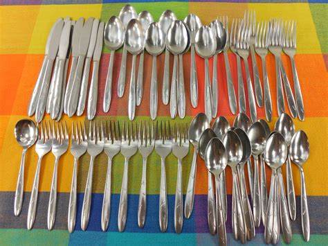 sohnaco japan mid century stainless flatware atomic