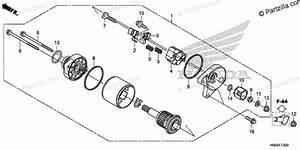 Honda Atv 2018 Oem Parts Diagram For Starter Motor