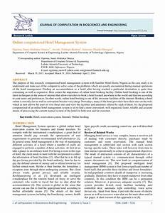 (PDF) Online computerized Hotel Management System