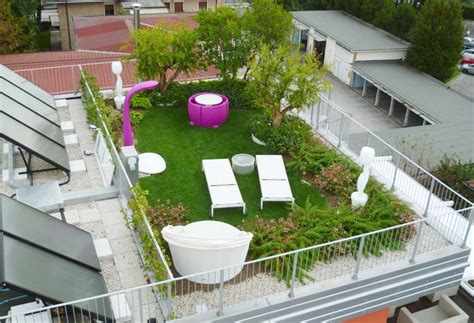 Giardino Pensile Sul Terrazzo Pro E Contro  Ville E Giardini