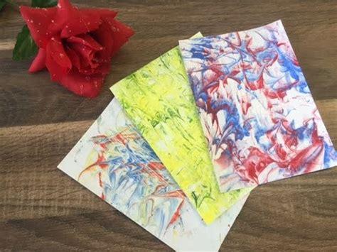 basteln mit kindern mit papier designpapier herstellen basteln mit kindern mit rasierschaum papier marmorieren