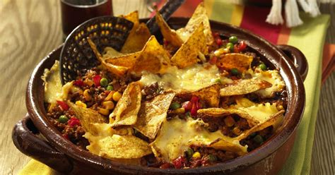 recipes using tortilla chips baked chilli con carne with tortilla chips recipesplus