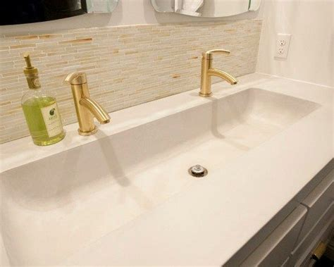 double faucet trough sink lake life pinterest