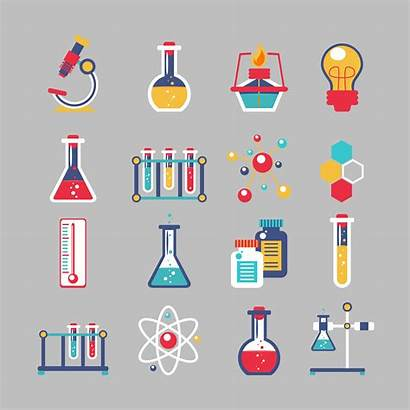 Chemistry Icons Chemie Posters Poster Vector Illustration