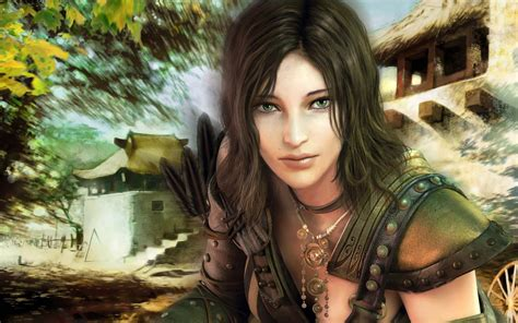 sexy girl  guild wars hd games wallpapers  mobile