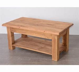 Table En Pin Massif : table basse en pin massif savoyard 4838 ~ Teatrodelosmanantiales.com Idées de Décoration