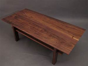 Walnut coffee table Artistic wood table for modern living