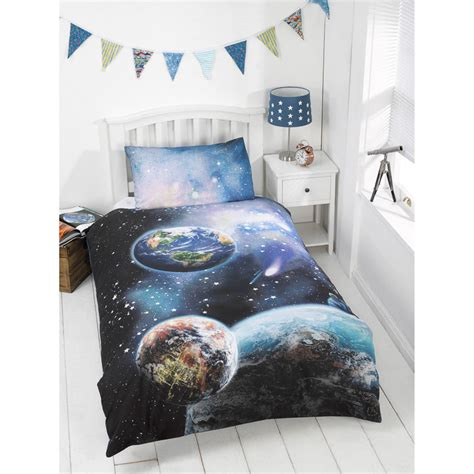 glow in the single duvet set planets bedding