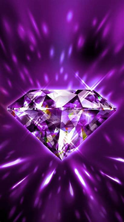 Diamond Bling Purple Pink Unknown Backgrounds Iphone