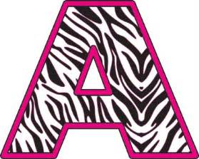Cheetah Print Baby Room Decor by Pink Zebra Alphabet Letters Removable Wall Sticker