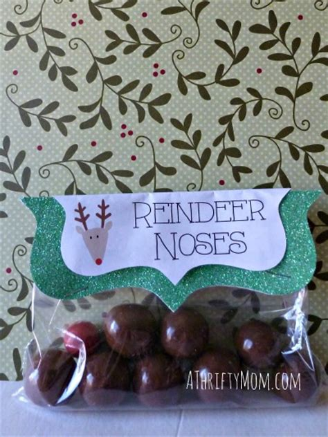 reindeer noses christmas party favors reindeer noses easy craft a thrifty recipes crafts diy and more
