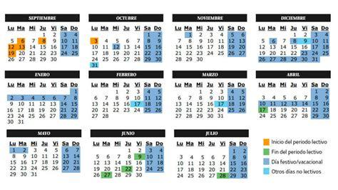 vacaciones calendario escolar del curso academico festivos