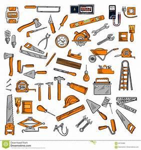94 Outil De Bricolage : symboles de croquis d 39 outils de bricolage et d 39 quipements ~ Dailycaller-alerts.com Idées de Décoration