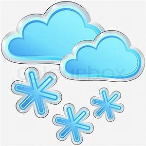 Vector weather icon with a snow weather | Stock Vector ...