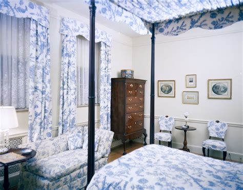 kn  blue toile bedroom   white house john