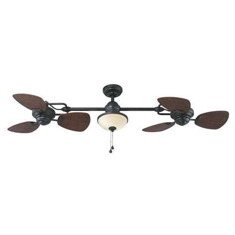 harbor breeze outdoor ceiling fan shop harbor breeze twin breeze ii 74 in oil rubbed bronze
