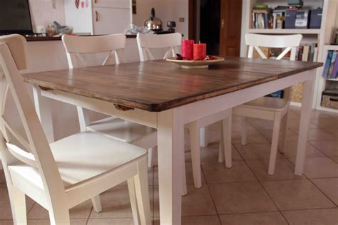 hack  country kitchen style dining table ikea hackers