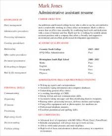 high level executive assistant resume 10 entry level administrative assistant resume templates