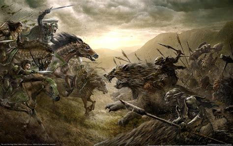 The Lord of the Rings Riders of Rohan Horse Drawing Battle