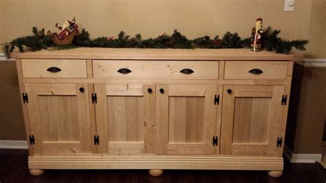 Diy Sideboard by White Planked Wood Sideboard Diy Projects