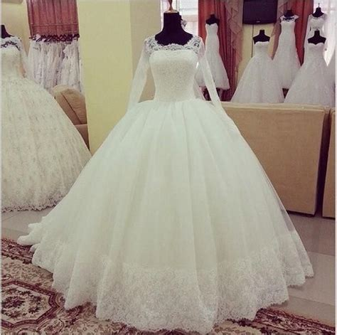 cheap wonderful design muslim wedding dresses long sleeves