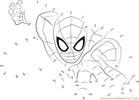 spiderman  superhero dot  dot printable worksheet