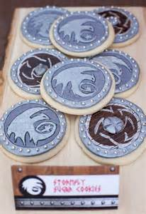 How to Train Your Dragon Shield Cookies