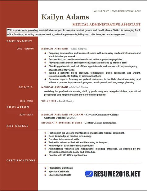 medical assistant resume examples   templates