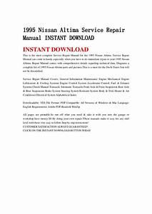 1995 Nissan Altima Service Repair Manual Instant Download