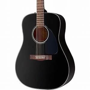 Fender DG-60 Acoustic Guitar Black | Music123