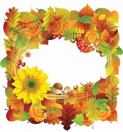 Autumn Frame Frames Transparent Flower Yopriceville Thanksgiving
