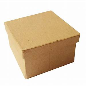 Boite En Carton À Décorer : boite en carton carr e chez rentreediscount loisirs cr atifs ~ Melissatoandfro.com Idées de Décoration