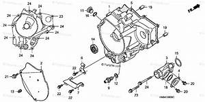 Honda Atv 2001 Oem Parts Diagram For Rear Crankcase Cover