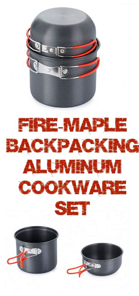 backpacking cookware pots pot hiking cooking canister lightweight gas