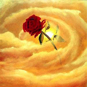 Painting - love is in the air red rose #482