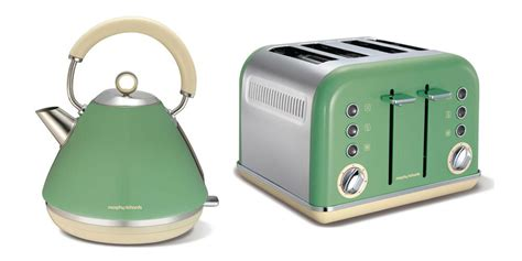 Green Kettle And Toaster Set - morphy richards accents kettle and toaster set green s