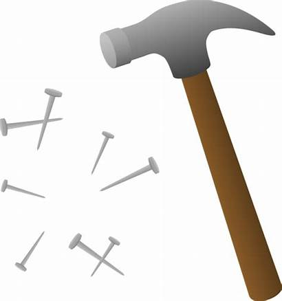 Hammer Clip Nail Nails Clipart Construction Tools