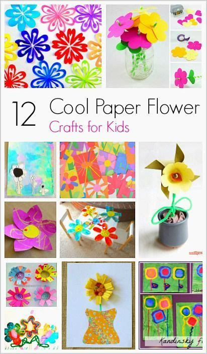 cool paper flower craft  kids flower crafts kids