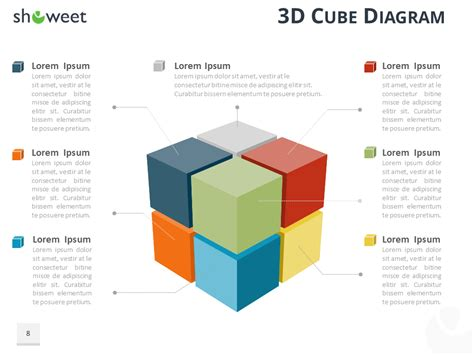 cube diagram  powerpoint  keynote