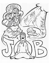 Coloring Job Copy Bible Church Children Ministry Christian sketch template