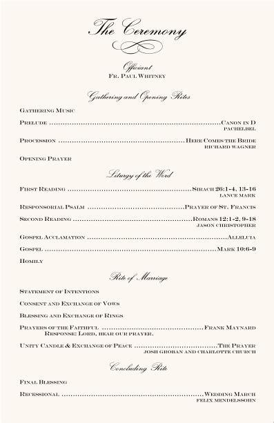 wedding program ideas wedding programs wedding program