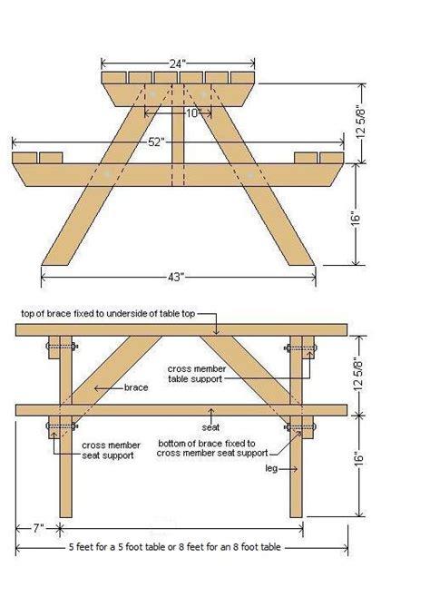 free picnic table plans picnic table plans plans for wood furniture pinterest