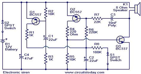 Electronic Siren Circuit Circuits