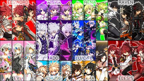 elsword anime character image gallery elsword characters