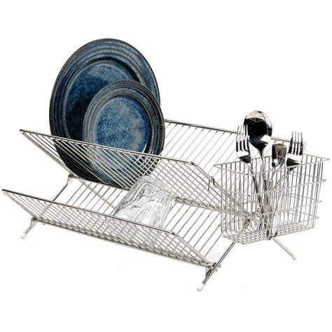 Folding Stainless Steel Dish Rack in Dish Racks