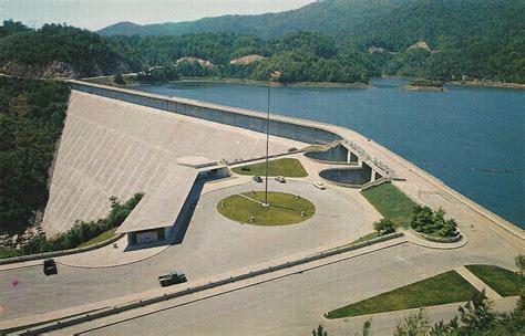 vintage travel postcards fontana dam north carolina