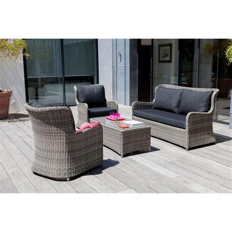 salon de jardin bas denver gris 2 fauteuils canap 233 table 1 colis 122x85x98 1 colis
