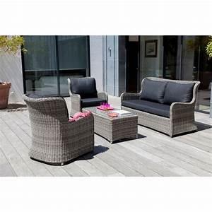 Salon Canapé Gris : salon de jardin bas denver gris 2 fauteuils canap table plantes et jardins ~ Preciouscoupons.com Idées de Décoration